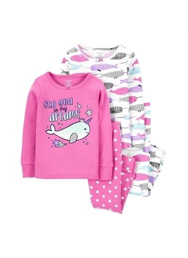 Carters Carter'S Narwhal 4'Lü Bebek Pijama Takımı 1J909810 Pembe